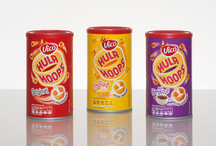 Snack producer Vico introduces Hula Hoops in Sonoco's rigid paperboard containers to the French market