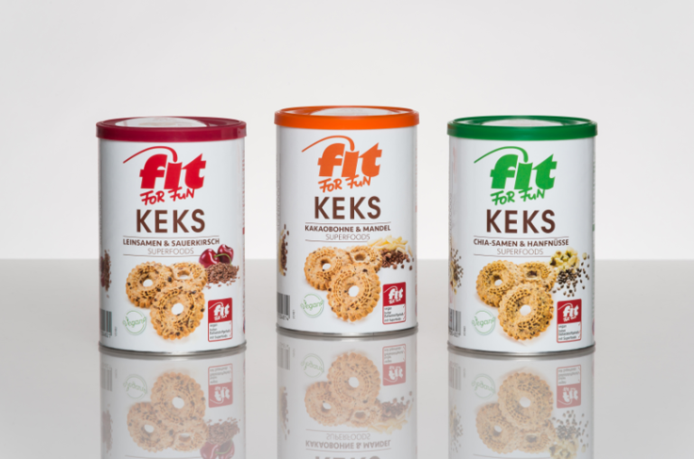 "Sonoco provides rigid paper containers to package ""Fit for Fun"" biscuits by Hans Freitag"